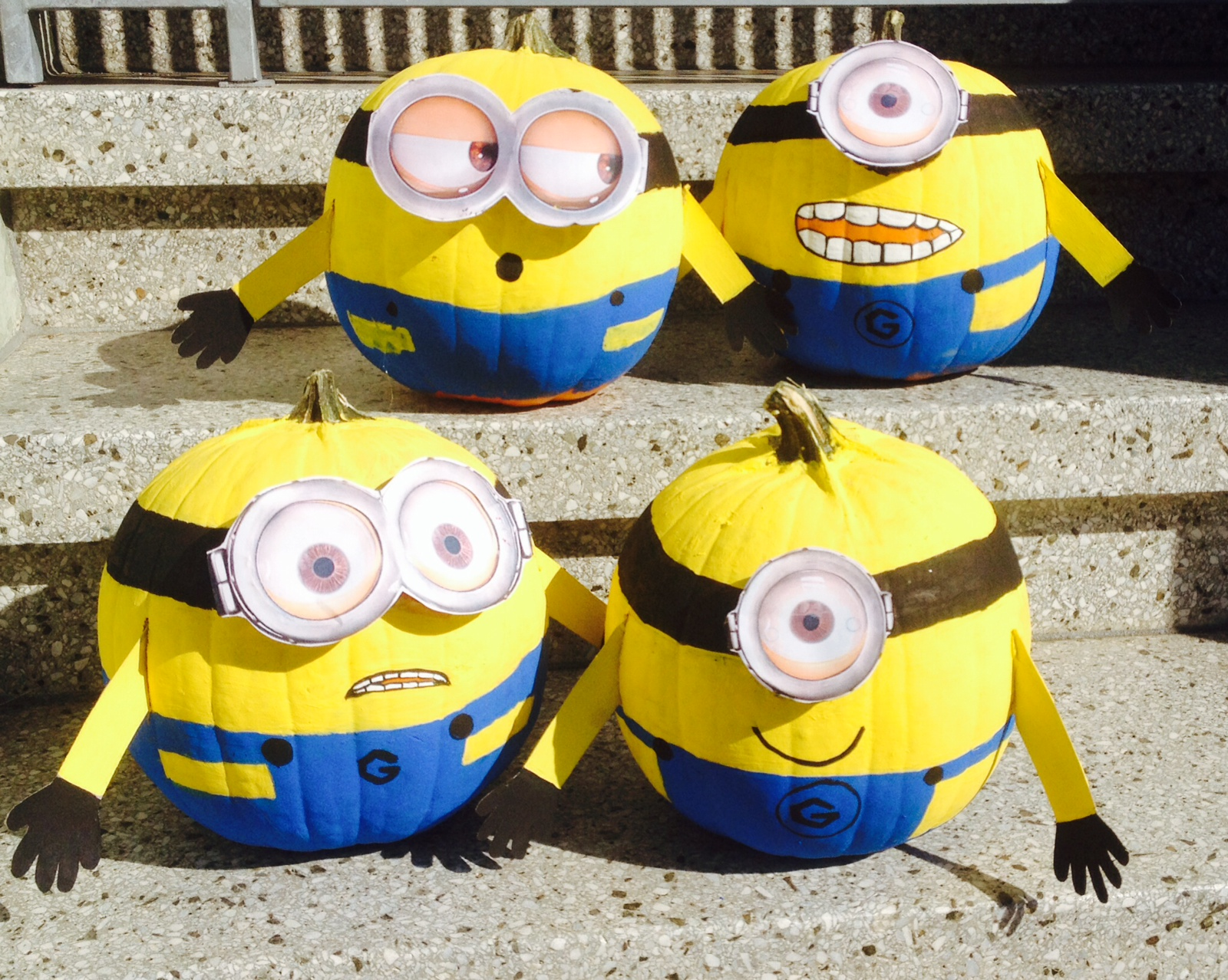 Painted Minion Pumpkins An Attack Of The Minions All About The Kids